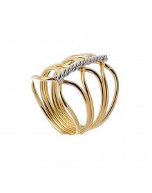 anel dourado folheado a ouro feminino