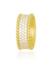 anel feminino da moda banhado a ouro