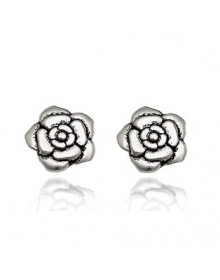 Brincos da Moda Pequenos Flores - Joias em Prata