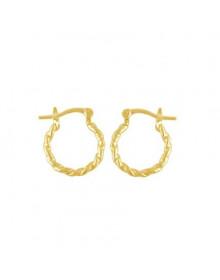 Brincos de Argola Dourados da Moda Banhados a Ouro 18k