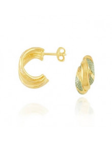 Brincos de argolinhas pequenos dourados banhados a ouro e ródio - semi joias
