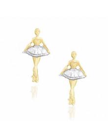 Brincos de Bailarina Folheados a Ouro Semijoia