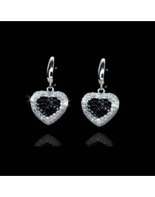 Brincos de Coração de Zirconias - Joias em Prata