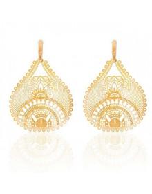 brincos da moda gotas banhados a ouro semi joias
