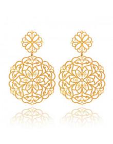 Maxi Brincos Grandes Mandalas - Brincos da Moda Banhados a Ouro 18k