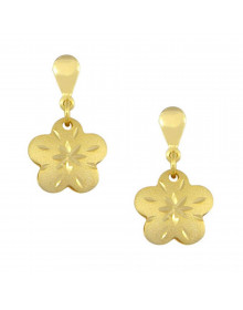 Brincos Pequenos de Florzinha Dourados Semijóias