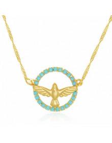 Colar Espírito Santo com Pedras Folheado a Ouro 18k - Colares Femininos