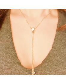 Colar Coração Folheado a Ouro com Zirconia - Colares da Moda