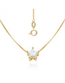 Colar Feminino com Pingente de Estrela - Semi Joias de Luxo