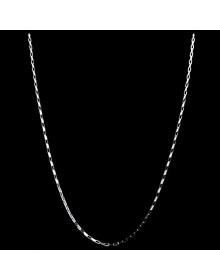 Corrente de Prata Feminina e Masculina Cartier 45 cm 1,0 mm