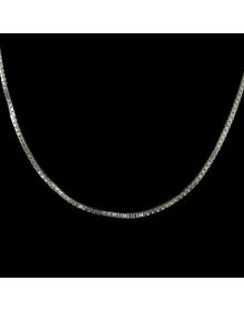 Corrente Feminina e Masculina Veneziana Longa de Prata 70 cm 1 mm