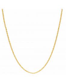 Corrente Banhada a Ouro 18k Feminina Corda 45 cm 2mm