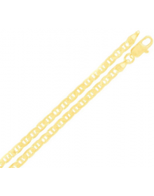 Corrente Masculina Banhada a Ouro 18k 60 cm 3 mm - Joia masculina