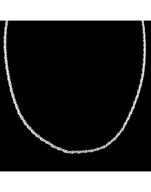 Corrente de Prata Feminina Corda 40 cm 1,5 mm