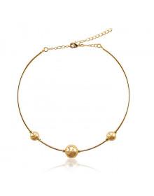 Gargantilha Chocker de Bolinhas Dourada Banhada a Ouro 18k - Gargantilhas da Moda