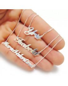 Gargantilha com Nome em Prata - Joias Personalizadas