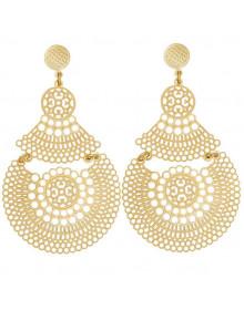 Maxi Brincos Grandes com Gotas Dourados - Brincos da Moda Indianos