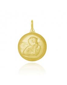 pingente anjo da guarda folheado a ouro