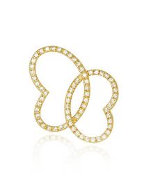 Pingente Borboleta com Zircônias Banhado a Ouro 18k - Semijoias da Moda