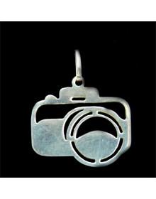 PingenteCamera Fotografica em Prata