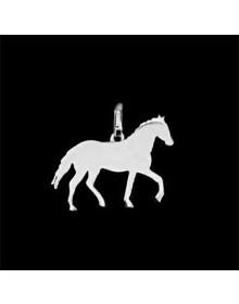 Pingente Cavalo caminhado em Prata