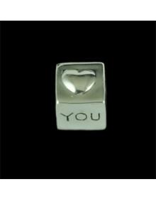 Pingente Dado I Love You | Pandora Inspired - Joias de Prata