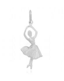 Pingente de Bailarina em Rodio