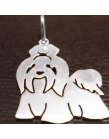 Pingente de Cachorro Shih Tzu - Joia em Prata