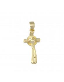 Pingente de Cruz Folheado a Ouro - Crucifixo Masculino