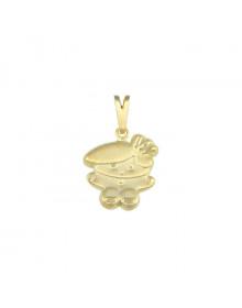 Pingente Menino Pequeno Banhado a Ouro Semijoia para Mães
