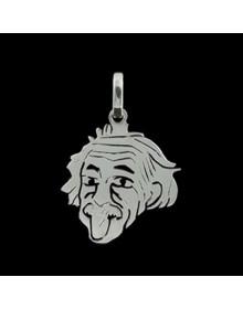 Pingente Masculino e Feminino De Prata Albert Einstein Linha Geek