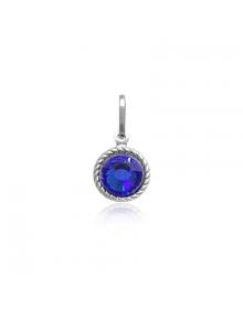Pingente de Prata com Ponto de Luz Azul