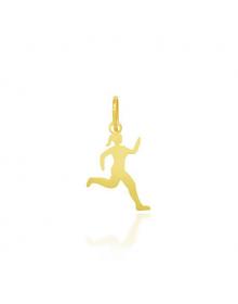 Pingente Folheado a Ouro 18k Corredora Atleta - Semi Joias