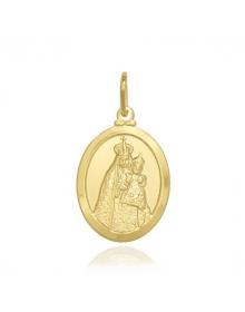 Pingente Nossa Senhora da Penha (Medalha) Banhada a Ouro 18k