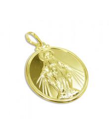 Medalha Nossa Senhora das Graças Banhada a Ouro