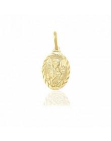 Pingente Nossa Senhora Perpetuo Socorro Diamantada Folheado a Ouro
