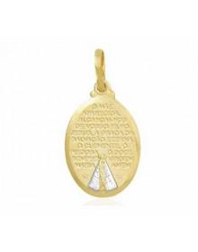 Pingente de Nossa Senhora com Oração Medalha Oval Semijóia