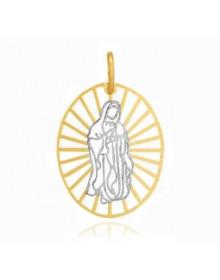 Pingente Nossa Senhora das Graças Medalha Vazada Semijóia