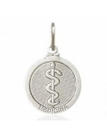 Pingente Medicina Prata | Pingentes de Profissão Semijoia