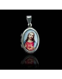 Pingente Relicario Jesus em Prata Joia