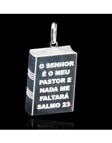 Pingente Prata Salmo 23 - Joias Masculinas e Femininas