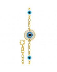 Pulseira de Olho Grego Azul SEMIJOIA