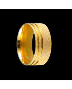 Alianças de Ouro 18k Grossas Casamento Diamantadas 8,2 mm