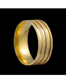 Alianças de Ouro 18k Grossas Anatômicas Diamantadas 8,2 mm