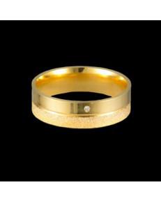 Alianças de Ouro 18k Anatômicas Diamantadas 6mm