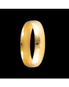 Alianças de Ouro 18k Anatômicas 5 mm