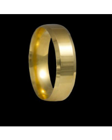 Alianças Chanfradas 6 mm de Ouro 18k