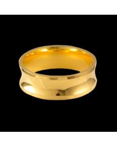 Alianças de Ouro 18k Grossas, Côncavas e Anatômicas 7 mm
