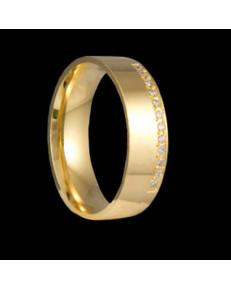Alianças de Ouro 18k Anatômicas 6 mm