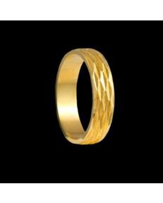 Alianças de Ouro 18k Trabalhadas 5 mm